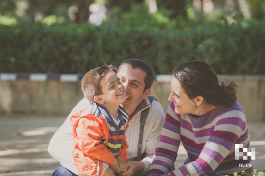 Sesión de familia de Dani, Carmen y Hugo