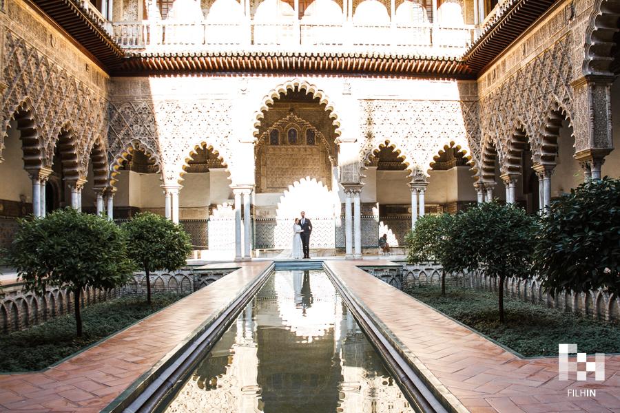 Postboda de Stefanos y Sofia en el Real Alcázar de Sevilla