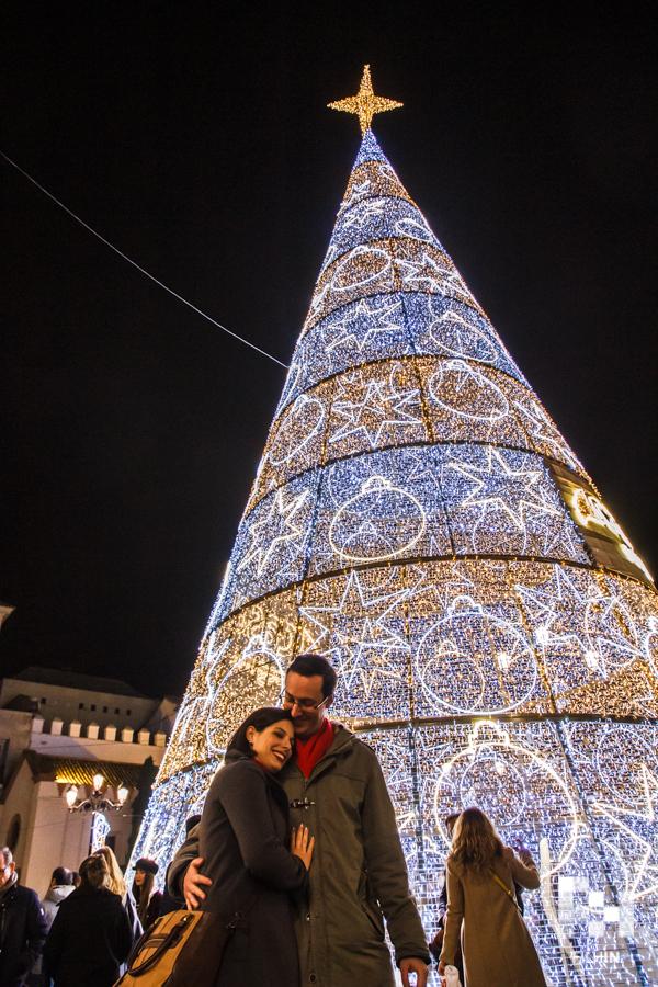 La preboda navideña de Macarena y José