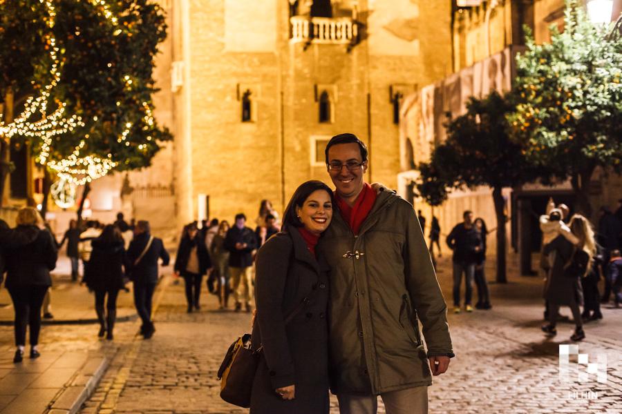 La preboda navideña de Macarena y Jose